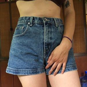 """Vintage 90's Denim Mini Shorts High Waisted 26"""""""